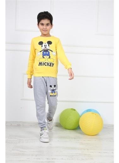 Mashotrend Mickey Mouse Erkek Eşofman Takımı - Alt  Üstlü - Erkek Çocuk Eşofman 3 Farklı Renk Sarı